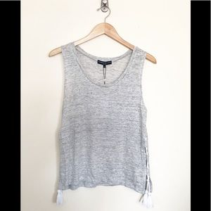 Generation Love Bryce Lace Up Linen Tank Top M new